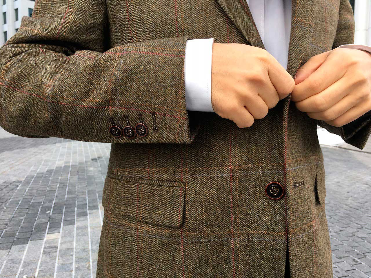Ткань: Harris Tweed, шерсть 100%
